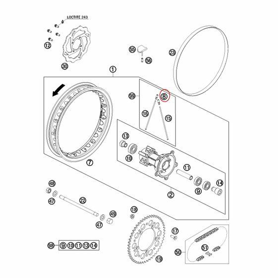 Nipple_M3_5_KTM_65_98-11_Dianteiro_Traseiro_-_46009072100