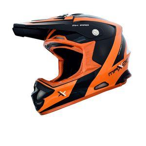 Capacete Mattos Racing MX PRO Laranja Preto 2f065371fb